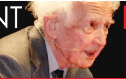 El sociólogo Zygmunt Bauman, en Agüimes