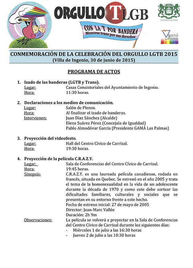 CONMEMORACIÓN ORGULLO LGTB 2015