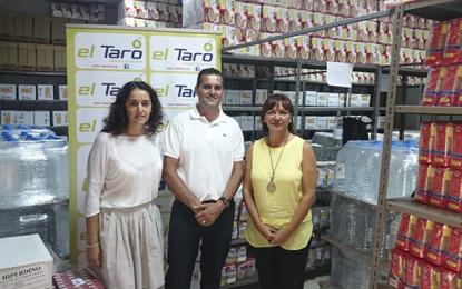 El Programa de alimentos recibe 2.500 kilos de la empresa concesionaria de combustible BP El Taro