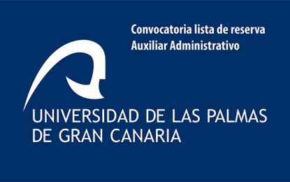 Pruebas selectivas para crear lista de reserva en la Universidad de Las Palmas de GC