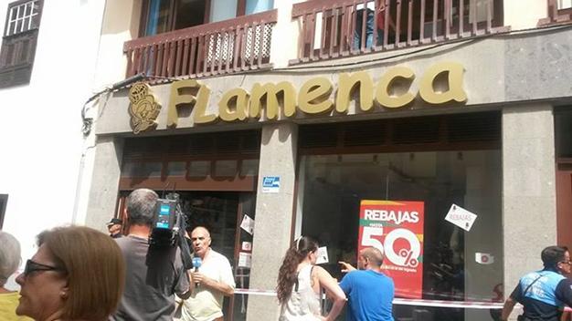 Foto: Tienda donde ha sucedido el asesinato, en la C/Real en Sta. Cruz de la Palma