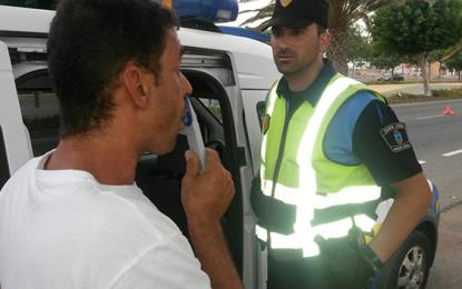 La campaña de prevención de la Policía Local cierra con 237 test y 24 conductores sancionados