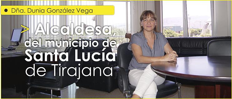 Dña. Dunia González Vega, alcaldesa del Municipio grancanario de Santa Lucía de Tirajana