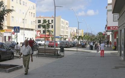 Las nuevas peatonales de Balos contarán con zonas de juego infantiles a lo largo de la Avenida